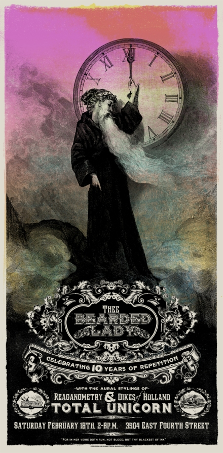 Poster from the Bearded Lady bday celebration last year